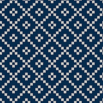 Вязаный свитер в стиле fair isle. бесшовные вязание. вязаная текстура