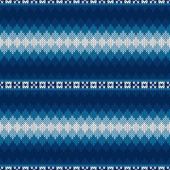 フェアアイルスタイルのセーターニットパターン