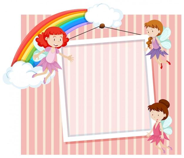 Fairies on the frame template