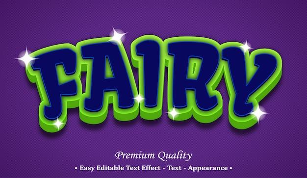 Fairy 3d editable text style effect