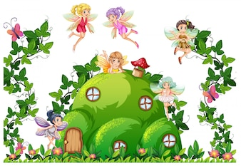Fairy at the hill house