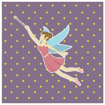 Fairy background vector Premium Vector