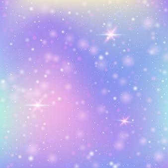 虹のメッシュと妖精の背景。