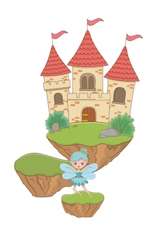 Fairy cartoon of fairytale illustration