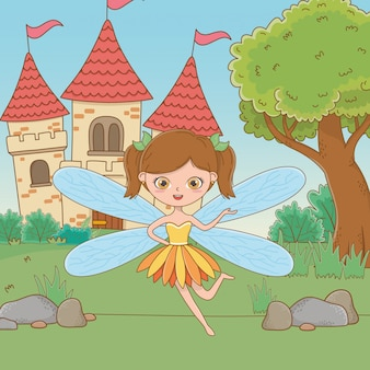 Fairy cartoon of fairytale