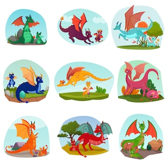 Fairy dragon kids set