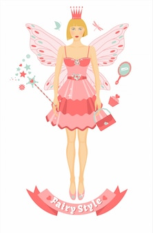 Fairy figure with accessories