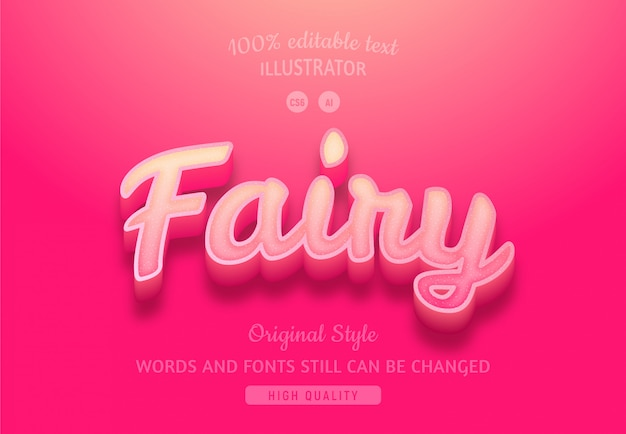 Fairy gradient pink text.