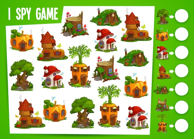 Fairy houses and dwellings kids spy game