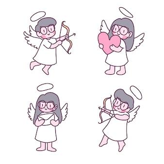 愛の妖精イラストセット