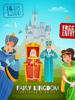 Сказочное королевство плакат иллюстрация