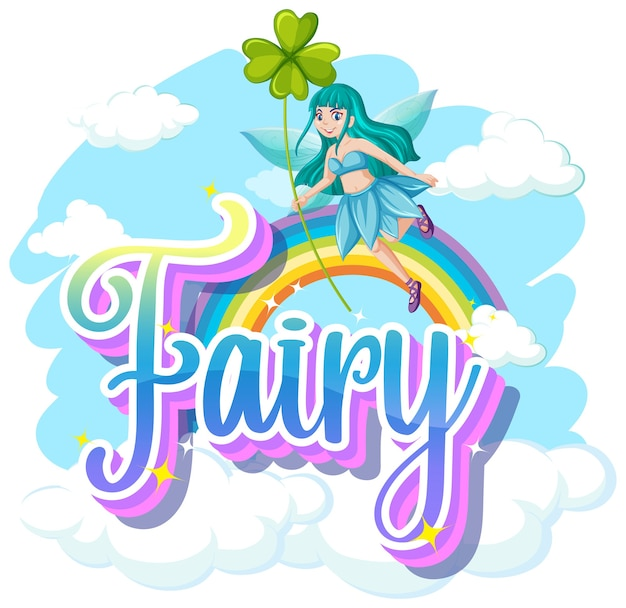 Fairy logos on white background