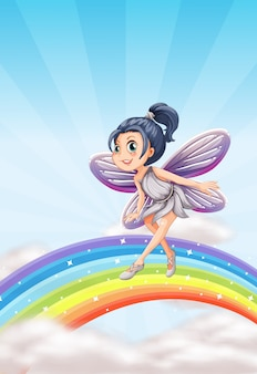 Fairy on a rainbow