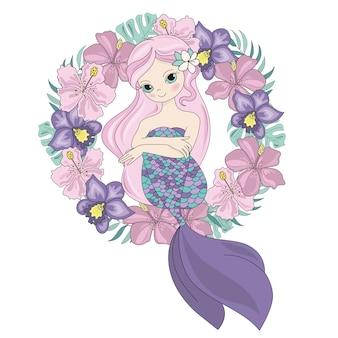 Fairy queen mermaid princess wreath