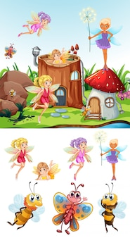 Fairy scene with set
