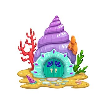 Fairy sea shell house or dwelling of sorceress