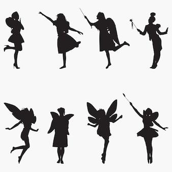 妖精のシルエットシルエット