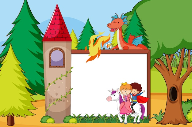 Fairy tale banner template
