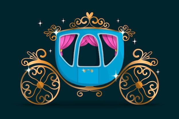 Fairy tale carriage illustration