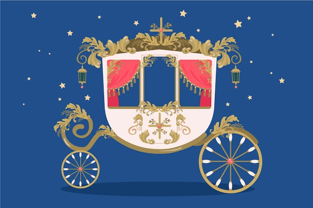 Fairy tale carriage illustration