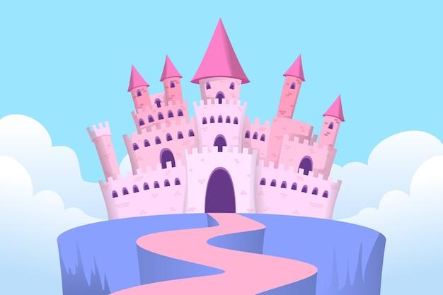 おとぎ話の城の図