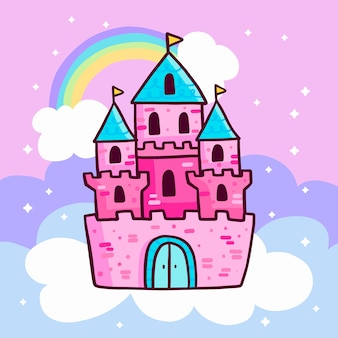 Fairy tale castle illustration