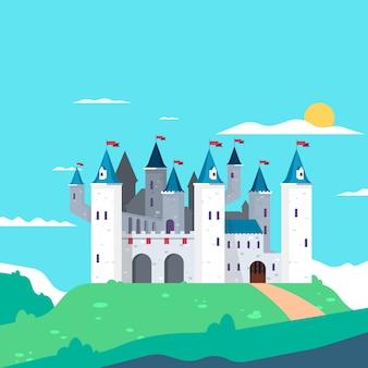 Сказочный замок пейзаж