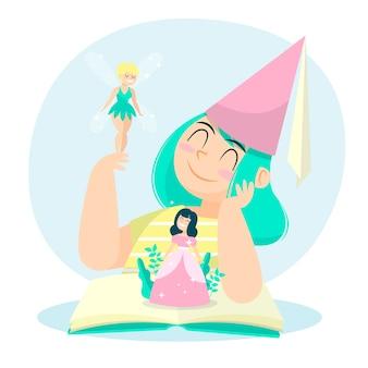 妖精とおとぎ話のコンセプト