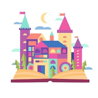 Сказочная концепция с крепостью