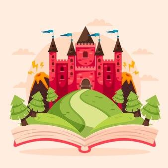 Концепция сказки с крепостью