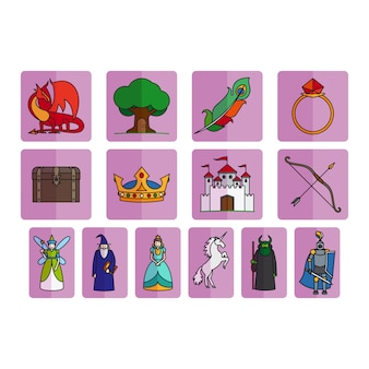 Fairy tale elements set