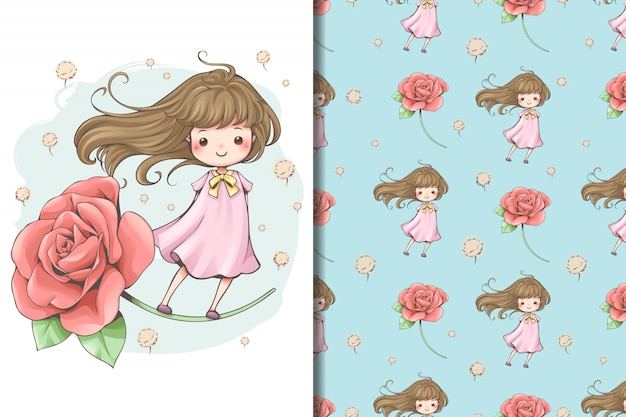 Fairy tale flower wallpaper and pattern