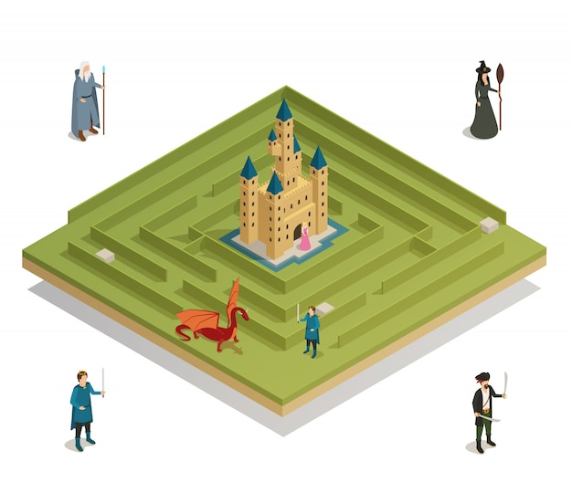 Fairy tale game isometric