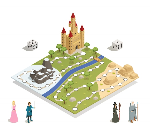 Fairy tale gameboard isometric