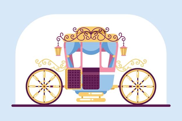 Сказочная иллюстрация с коляской