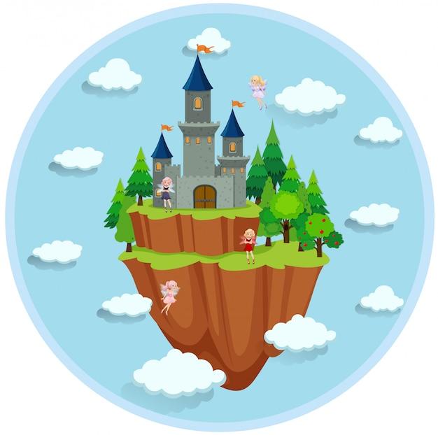Fairy tale island scene