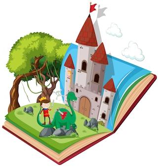 Fairy tale open book