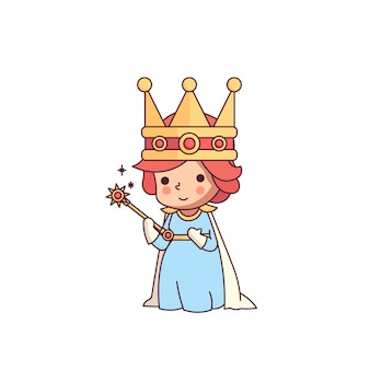 Fairy tale queen of wand cute character