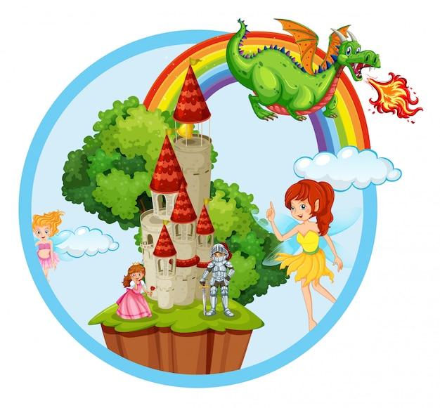 Fairy tale story scene
