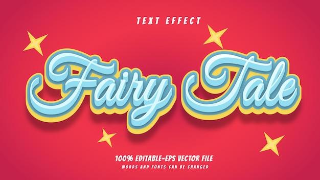 Сказочный текстовый эффект дизайн вектор