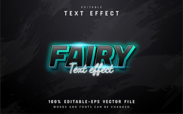 Fairy text - blue neon style text effect