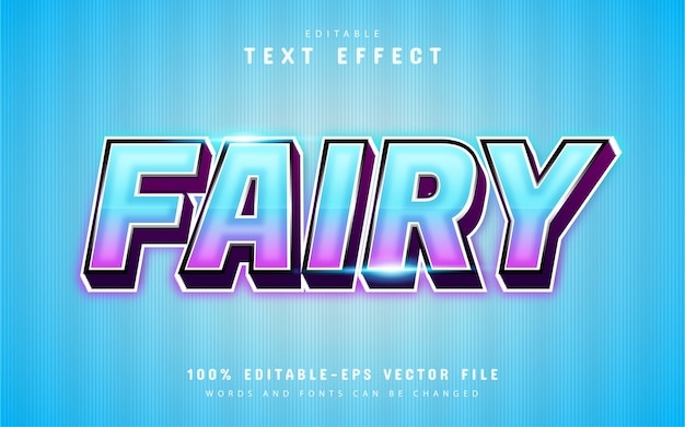 Fairy text effect with blue gradient