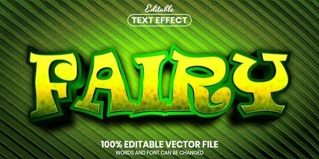 Fairy text, font style editable text effect