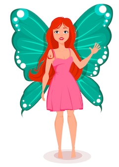 Fairy with butterfly wings