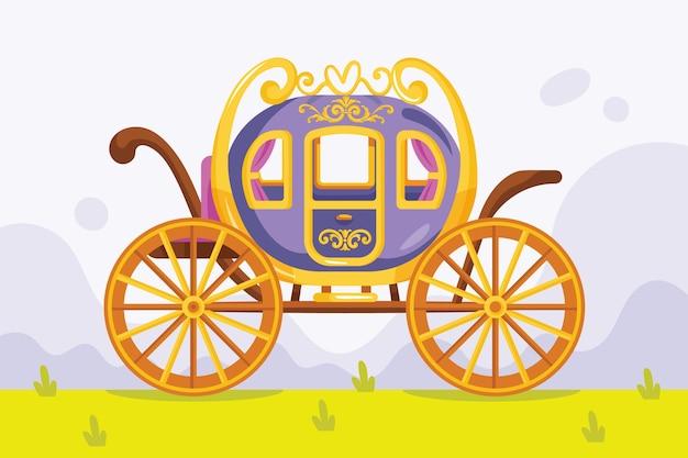 おとぎ話の馬車のコンセプト