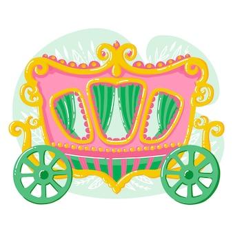Сказочная коляска иллюстрированная концепция
