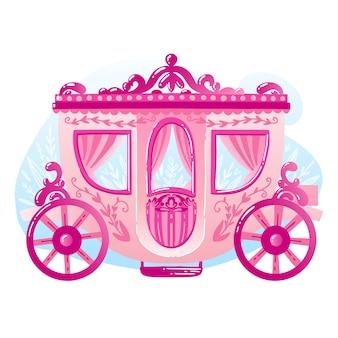 Fairytale carriage illustrated