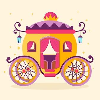 Fairytale carriage illustration concept