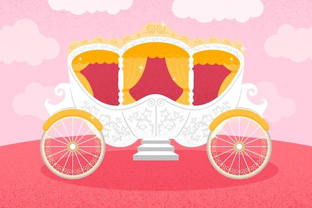 Сказочная карета королевской золотой обивки