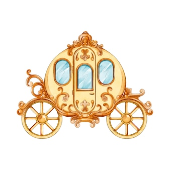Fairytale carriage watercolor style